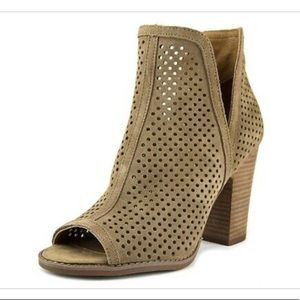 Lucky Brand Perforated Peep Toe Booties